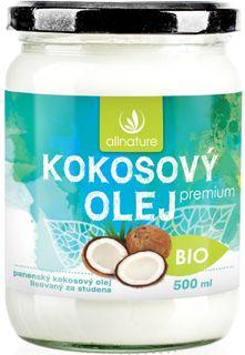 Allnature Kokosový olej panenský BIO