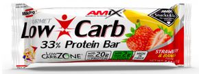 Amix Low-Carb 33% Protein Bar banán/jahoda 60 g