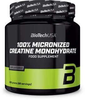 BioTech USA 100% Creatine Monohydrate bez příchutě 500 g