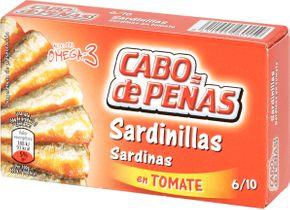 Cabo de peňas Malé sardinky rajčatová omáčka 90 g