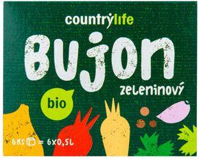 Country Life Bujon zeleninový kostky BIO