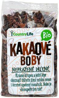 Country Life Kakaové boby nepražené drcené BIO