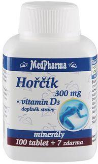 MedPharma Hořčík 300mg + vitamín D3