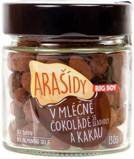 BIG BOY Arašídy v mléčné čokoládě a kakau