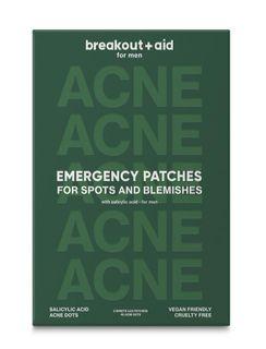 Breakout+aid Náplasti na lokální ošetření akné pro muže s kyselinou salicylovou