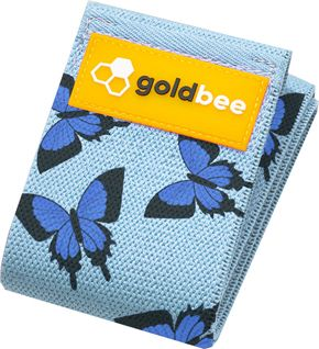 GoldBee Textilní odporová guma M motýli střední odpor
