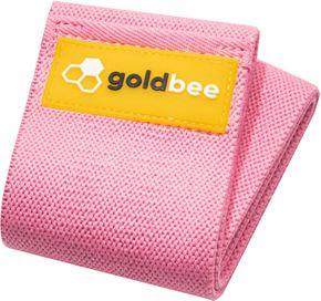 GoldBee Textilní odporová guma M růžová střední odpor