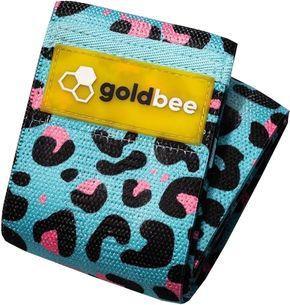 GoldBee Textilní odporová guma L modrá/růžová silný odpor
