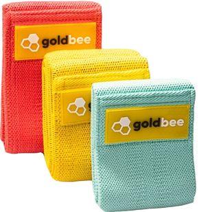GoldBee Textilní odporová guma SET tyrkysová, žlutá, oranžová