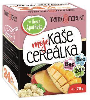 Green Apotheke Cereálka ovesná kaše mango/moruše 4 x 75 g