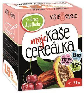 Green Apotheke Cereálka ovesná kaše višeň/kakao 4 x 75 g