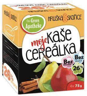 Green Apotheke Cereálka ovesná kaše hruška/skořice 4 x 75 g