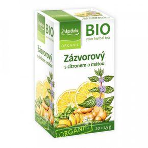 Green Apotheke Zázvorový čaj s citronem a mátou BIO