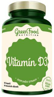 GreenFood Vitamin D3 60 kapslí
