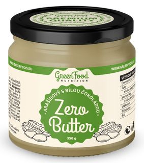 GreenFood Zero Butter arašídy/bílá čokoláda 350 g