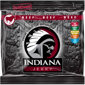 Indiana Jerky Hovězí Hot & Sweet 60 g