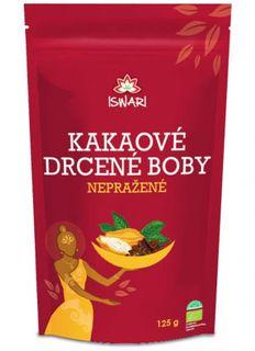 Iswari Nepražené kakaové boby drcené BIO 125 g