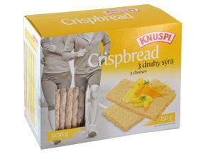 Knuspi Crispbread 3 druhy sýra 150 g