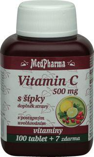 MedPharma Vitamín C 500mg s šípky