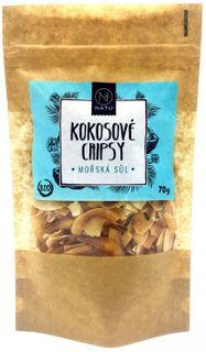 Natu Kokosové chipsy BIO mořská sůl 70 g