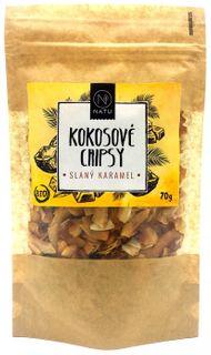 Natu Kokosové chipsy BIO slaný karamel 70 g