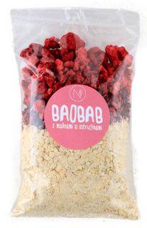 Natu Superkaše baobab s malinami a ostružinami 70 g