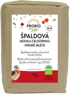 Probio Mouka špaldová celozrnná hrubě mletá 1000 g