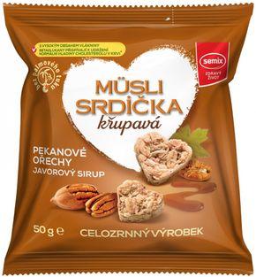 Semix Müsli srdíčka křupavá pekanové ořechy/javorový sirup 50 g