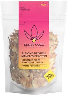 Sense Coco Kokosové chipsy BIO mandlový protein 40 g