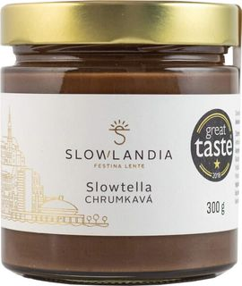 Slowlandia Slowtella krém křupavé lískové ořechy/kakao 300 g