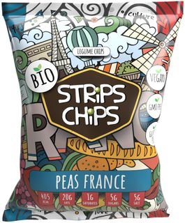 Strips Chips Hrách France BIO 90 g