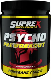Suprex Psycho Preworkout zelené jablko 500 g