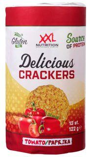 XXL Nutrition Delicious Crackers rajče/paprika 122 g