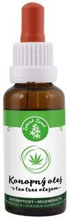 Zelená Země Konopný olej s tea tree olejem