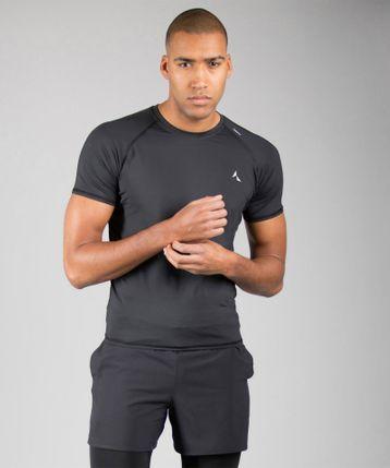 Carpatree pánské triko Contact Shortsleeve Rashguard L černá