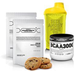 SizeAndSymmetry Nutrition 2x Whey Protein 80 CFM + BCAA 3000 + Shaker