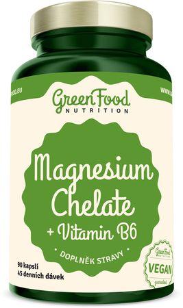 GreenFood Magnesium Chelát + vitamin B6