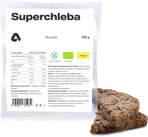 Aktin Superchleba BIO brusinka 275 g