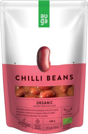 AUGA ORGANIC Červené fazole v chilli omáčce