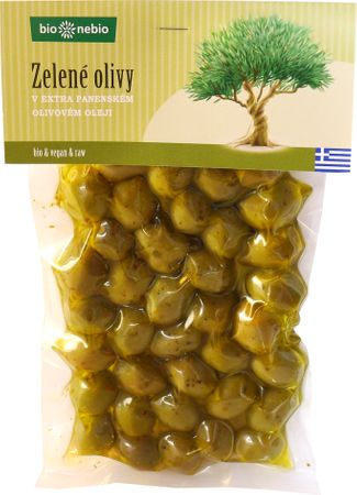 Bio Nebio Zelené olivy v extra panenském olivovém oleji BIO