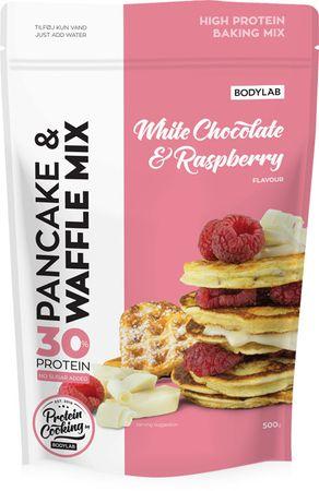 Bodylab High Protein Pancake (& Waffle) Mix bílá čokoláda/malina 500 g