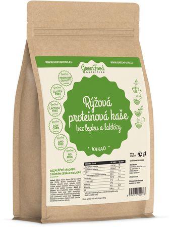 GreenFood Proteinová rýžová kaše bez lepku a laktózy