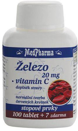 MedPharma Železo 20mg + vitamín C