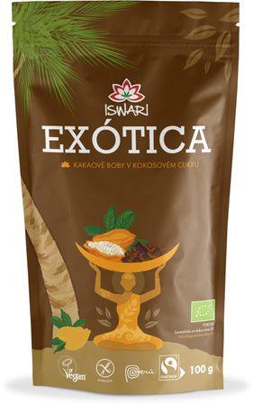 Iswari BIO kakaové boby v kokosovém cukru exótica