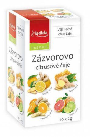 Green Apotheke PREMIER Zázvorovo-citrusové čaje 4v1