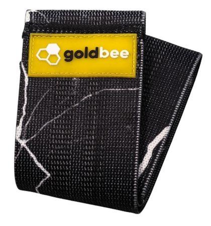 GoldBee Textilní odporová guma M černá/mramorová střední odpor