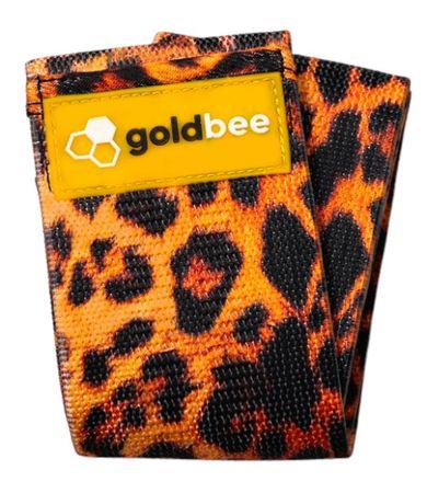 GoldBee Textilní odporová guma M oranžová/tygrovaná střední odpor