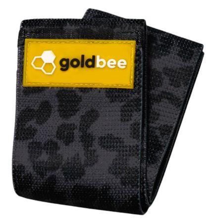 GoldBee Textilní odporová guma M černá/tygrovaná střední odpor