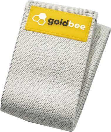 GoldBee Textilní odporová guma L šedá silný odpor