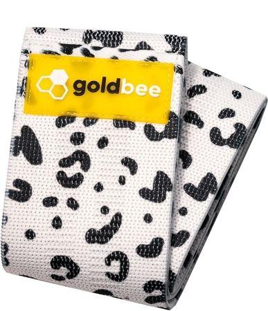 GoldBee Textilní odporová guma M bílá/tygrovaná střední odpor